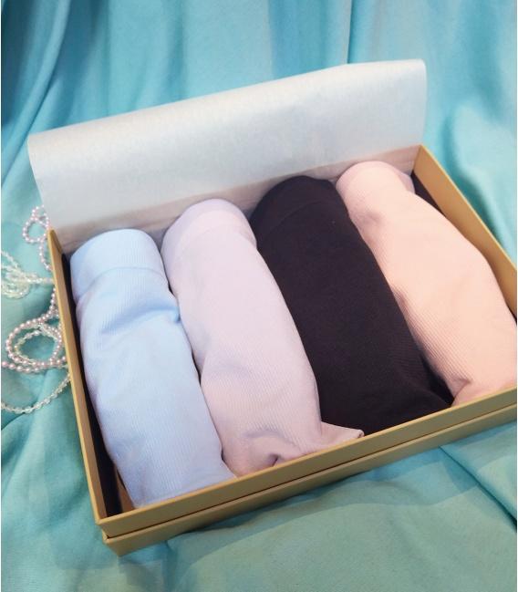 【豪華孝親禮】膠原中高腰內褲 4件禮盒組(不挑色)